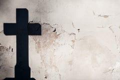 Ombre d'une croix Images libres de droits