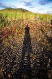 Ombre dans la sécheresse Photographie stock