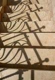 Ombre de barrière Photo stock