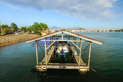 Ombre de bateau Photo libre de droits