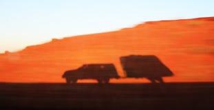 Ombre de camion et de remorque Photos stock