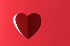 Ombre de coeur Photographie stock libre de droits