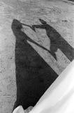 Ombre de coeur Photo libre de droits