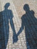 Ombre de couples Image libre de droits