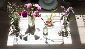 Ombre de diverses fleurs Photographie stock