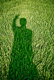Ombre de Ghost sur l'herbe Photo stock