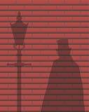 Ombre de Jack The Ripper Brick Wall Photos libres de droits
