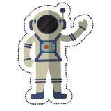 ombre de l'espace de costume d'exploration d'astronaute illustration stock