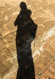 Ombre de Madame, lumière noire et silhouette photo libre de droits