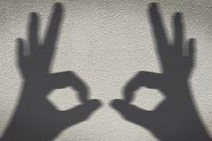 ombre de main Photographie stock libre de droits
