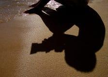 OMBRE DE PHOTOGRAPHE Photos libres de droits