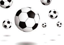 Ombre de rebondissement du football illustration libre de droits
