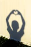 Ombre de silhouette de coeur Photographie stock