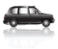 Ombre de taxi de Londres Images libres de droits