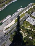 Ombre de Tour Eiffel Photo libre de droits