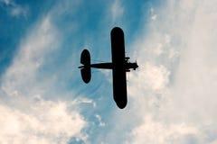 Ombre de vieil avion Photographie stock libre de droits