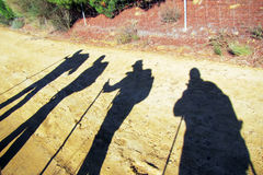 Ombre dei pellegrini Fotografia Stock