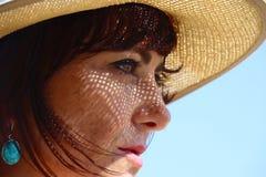 Ombre del cappello Immagini Stock Libere da Diritti