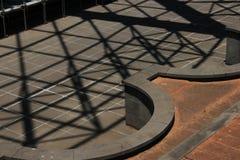 Ombre del tetto Fotografie Stock