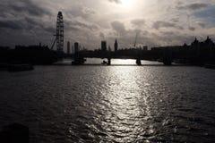 Ombre dell'orizzonte di Londra Fotografie Stock Libere da Diritti