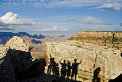 Ombre della gente al grande canyon Fotografia Stock Libera da Diritti
