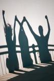 Ombre della gente felice Fotografia Stock