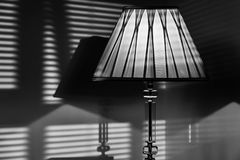 Ombre della lampada Fotografie Stock