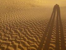 Ombre des amants sur le sable image stock