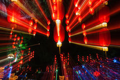 Ombre des lanternes rouges Photos libres de droits