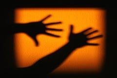 Ombre des mains photos libres de droits