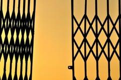 Ombre des portes de pliage photo libre de droits