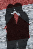 Ombre di abbraccio delle coppie Fotografie Stock Libere da Diritti