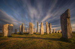 Ombre di Callanish fotografie stock