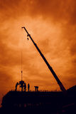 Ombre di costruzione domestica Fotografia Stock