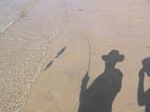 Ombre di pesce Fotografia Stock