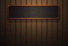 Ombre en bois de haute résolution de lumière de mur de panneau Image libre de droits