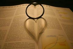 Ombre en forme de coeur Photographie stock libre de droits
