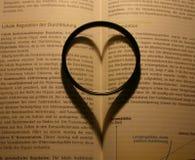 Ombre formée par coeur Image stock