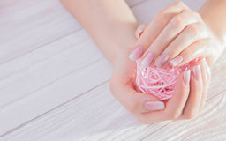 Ombre french manicure Royalty Free Stock Images