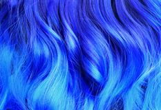 Ombre hair dying black to blue, with turquoise highlights, brig. Ht dyed hair, vivid colors, turquoise hair, blue hair, salon advertising, hair texture royalty free stock images