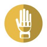 Ombre jaune d'éléments de pompier de protection de gants illustration libre de droits