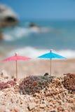 Ombre à la plage Images libres de droits