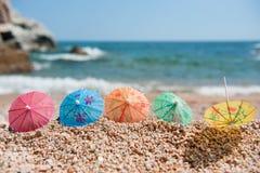 Ombre à la plage Photographie stock libre de droits