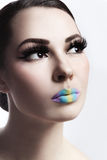 Ombre lips Stock Images
