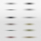 Ombre ovale transparente avec les bords mous d'isolement sur le fond à carreaux Positionnement d'illustration de vecteur Photo libre de droits