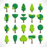 Ombre plate de grand ensemble d'arbres illustration libre de droits