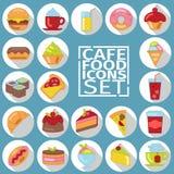 Ombre plate de nourriture Image libre de droits