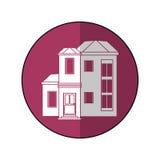 Ombre pourpre résidentielle de cercle de famille de Chambre illustration libre de droits