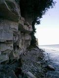 Ombre près des roches Photos stock