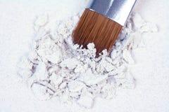 Ombre rotte bianche con la spazzola professionale Fotografia Stock Libera da Diritti